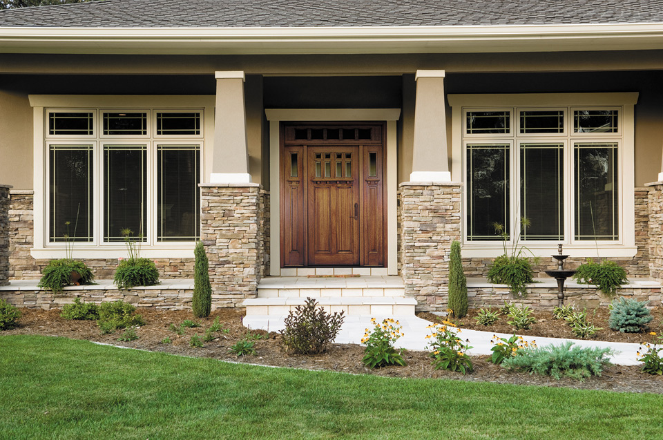 Craftsman Style Windows and Doors Pella Craftsman Style Architect Series® Wood Entry Doors & Pella Replacement Windows and Doors Showroom Portfolio