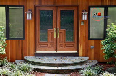 Custom Mahogany Doors